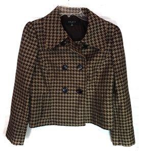 Nine West black and brown pattern blazer suit